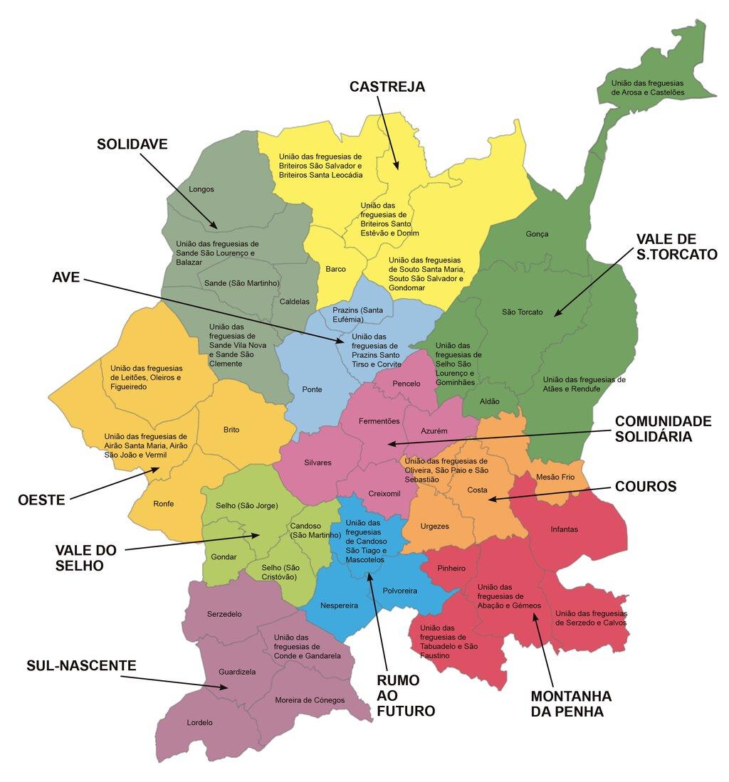 freguesias de guimaraes mapa Rede Social | Câmara Municipal de Guimarães freguesias de guimaraes mapa